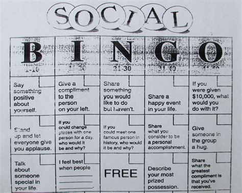 social bingo stuff that needs saying