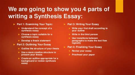 Tips For Writing A Synthesis Essay useful tips for writing a synthesis essay