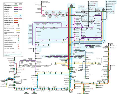 thameslink to gatwick map of london commuter rail stations lines
