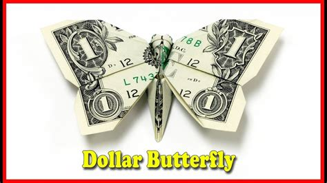 Make Money Origami - how to make a money origami butterfly tutorial diy my