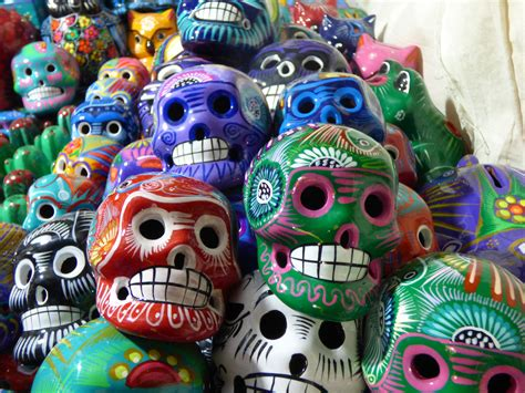 day of the dead skulls odditiesbizarre com