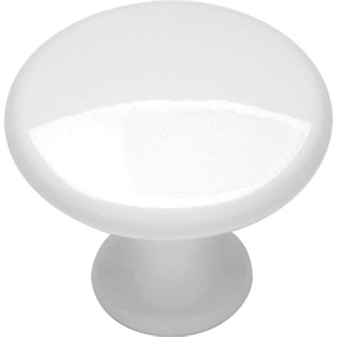 hickory hardware conquest 1 1 8 in white cabinet knob