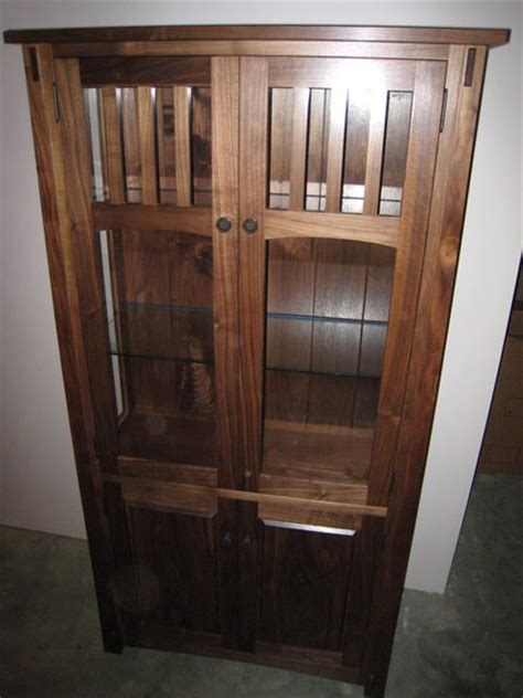 Mission Style Cabinet Curio By Terrys Lumberjocks Com Mission Style Curio Cabinet