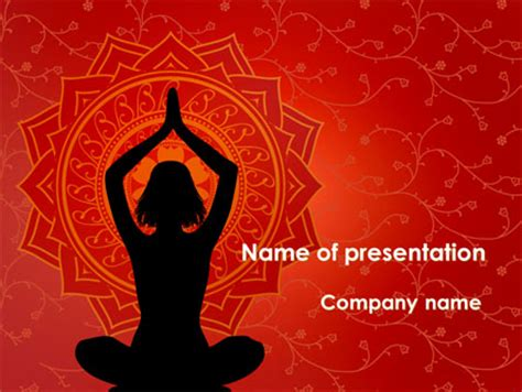 template powerpoint yoga mindfulness meditation powerpoint template backgrounds