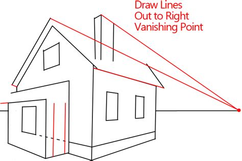 2 Point Perspective House Drawing Lesson by How To Draw A House With Easy 2 Point Perspective