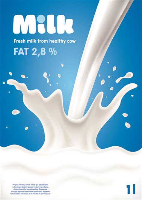 milk design vector blue style milk poster creative vector free vector in