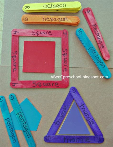 pattern making with shapes 25 craft stick activities playdough to plato