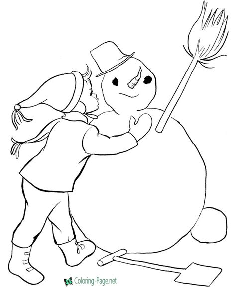 girl snowman coloring page kids coloring pages girl and snowman