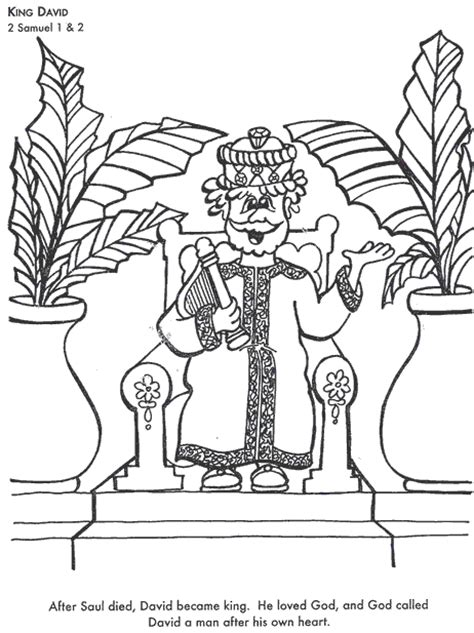 coloring page david becomes king king david coloring page sunday school pinterest