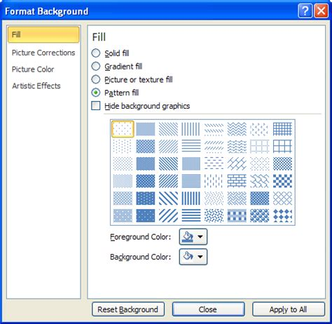 fill pattern canvas javascript powerpoint background