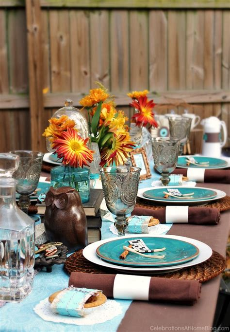 fall table settings ideas fall eclectic table setting ideas celebrations at home