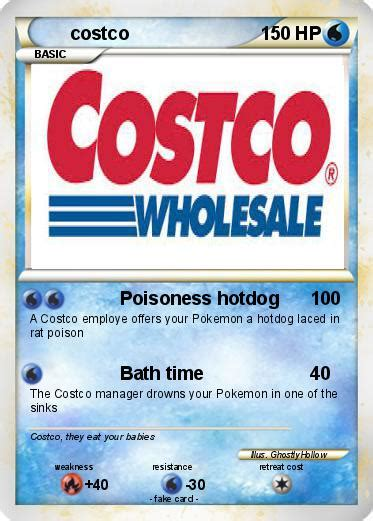 how to make costco card pok 233 mon costco 1 1 poisoness hotdog my card