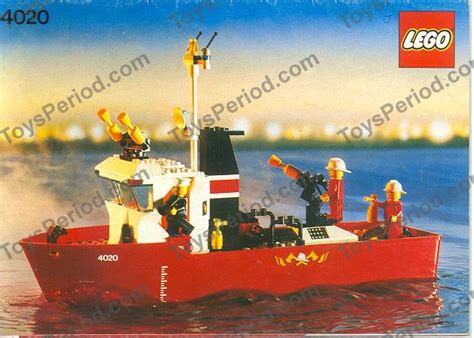 fire boat fighting fire lego 4020 fire fighting boat set parts inventory and