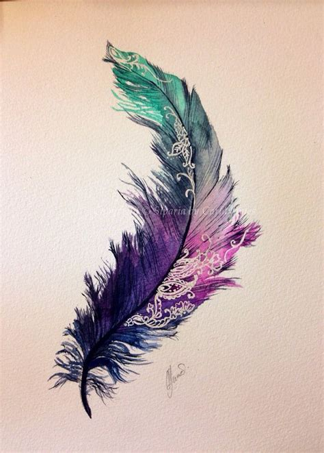 colorful feather tattoos 29 feather images pictures and ideas