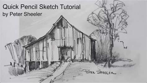 scheune zeichnen sketching tutorial with pencil and easy techniques