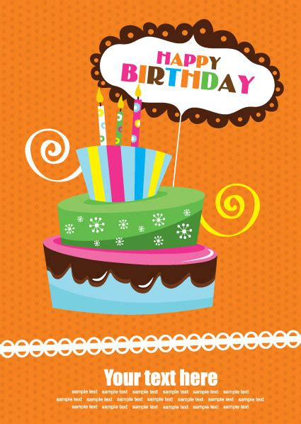 birthday cake card template greeting card cake candles picture