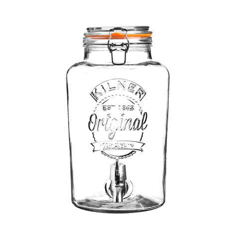 Kran Dispenser T3010 6 kilner clip top drinks dispenser 5 litre
