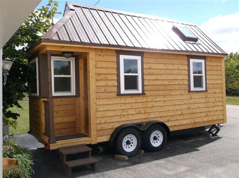 135 Sq Ft Tiny House For Sale Built On Tumbleweed Trailer Tiny Houses On Trailers