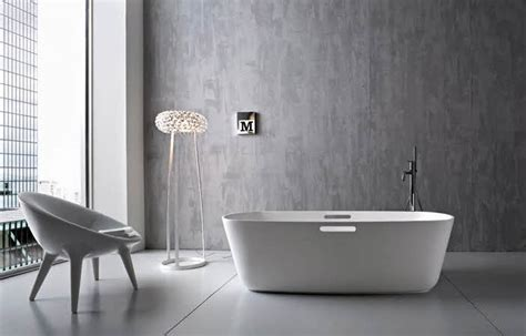 Modern Grey Bathroom Grey Wallpaper With Modern White Decosee