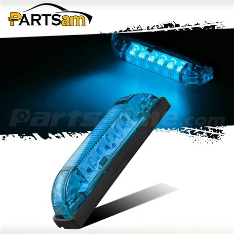 boat trailer clearance lights blue led 4 quot 12v boat trailer utility strip light led