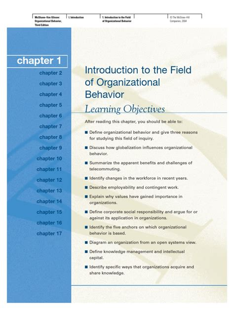 Organizational Behavior Mba Quizlet Chapter 7 11 13 14 by Organizational Behavior Chapter01