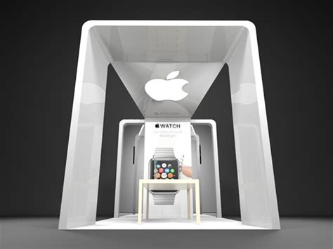 booth design software for mac apple watch promotional booth on behance