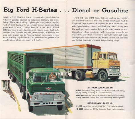 ford h big ford h series diesel or gasoline print ads