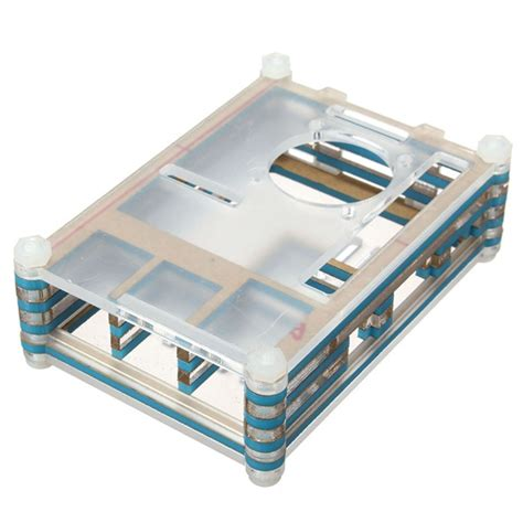 colorful acrylic shell with a fan for raspberry pi 2 model b alex nld