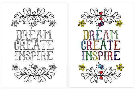 inspirational coloring page live laugh rowe