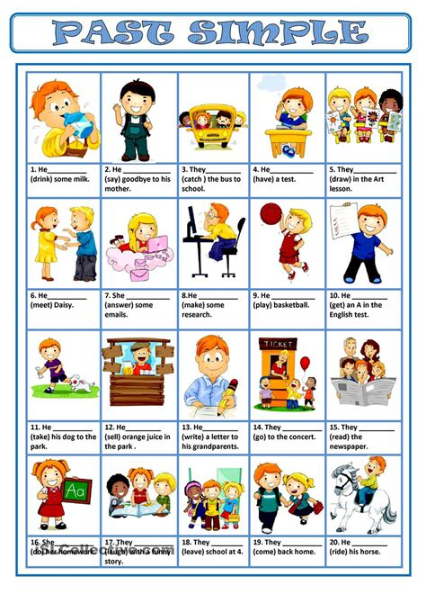 themes learning english past simple free esl worksheets past simple