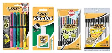 new bic stationary product printable freebies at staples printable coupons for 1 2 bic stationery items
