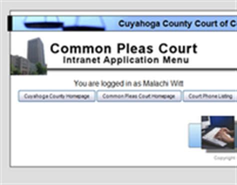 Cuyahoga County Court Of Common Pleas Search Cuyahoga County Common Pleas Court Intranet On Behance