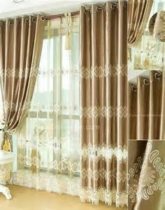 Luxury Curtains And Drapes Luxury Curtains And Drapes In Khaki Embroidery Patterns