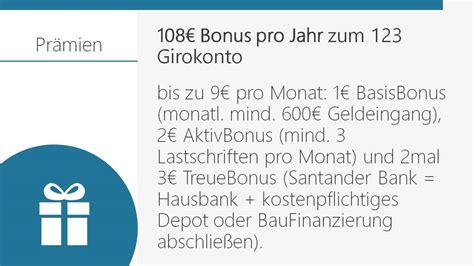 bank vergleich girokonto was kann das santander 123 girokonto kgv gepr 252 ft