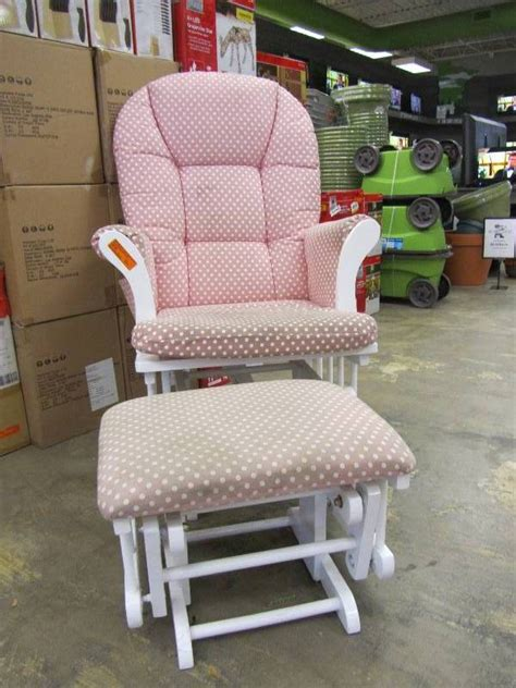shermag glider and ottoman replacement cushions shermag alexis glider rocker and ottoman combo pink