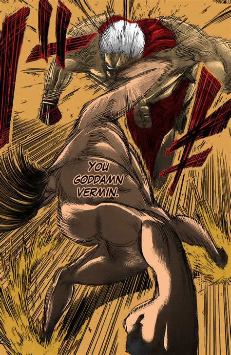 Eren punching the armored titan by Thepingolu on DeviantArt Attack On Titan Eren Titan Vs Armored Titan
