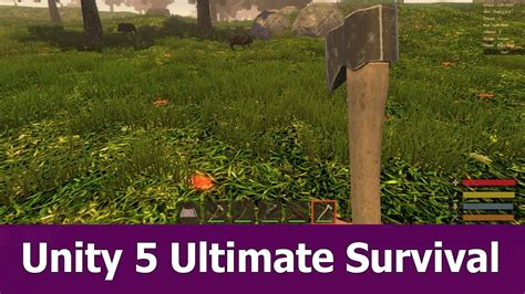 tutorial unity survival unity 5 ultimate survival asset pack introduction youtube