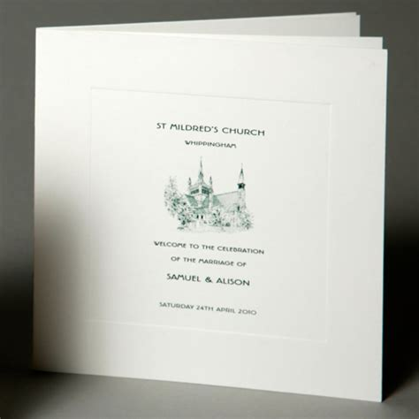Wedding Order Of Service Cards Template by Inspiration Service Sheets Wedding Stationery