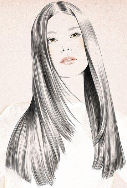 fashion illustration hair hair drawings www pixshark images