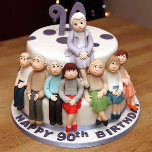 ladies 90th birthday cake personalised handmade children