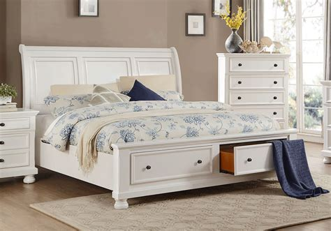 white bedroom sets king laurelin white king storage bedroom set lexington