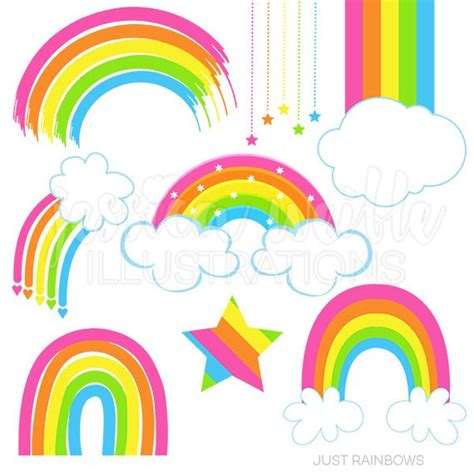 Rainbow Pink just rainbows digital clipart rainbow clip