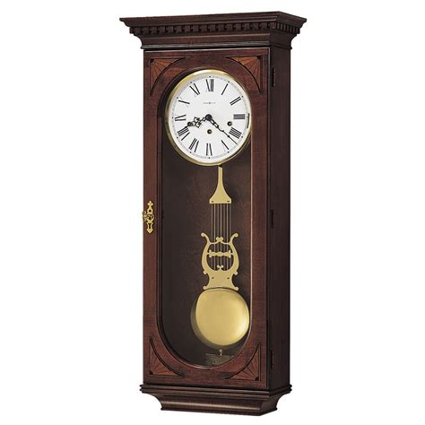 clock made of clocks chiming wall clock howard miller lewis 613 637 613637