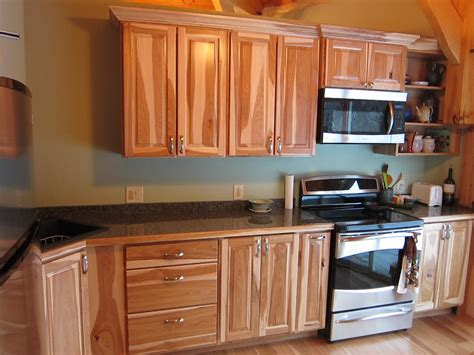 kitchen cabinets hickory new kitchen with hickory cabinets and granite countertops