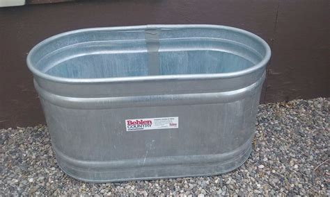 galvanized water trough bathtub behlen 90 gallon galvanized steel oval farm stock tank
