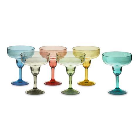 Outdoor Cocktail Glasses Duraclear 174 Margarita Glasses Multicolor Williams Sonoma