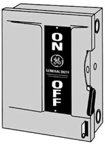 GE TG3225R - 400 Amp NEMA Type 3R General Duty Safety Switch