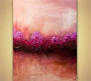 abstract home decor prints painting large modern pink abstract home