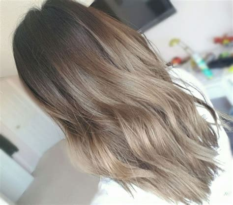 medium ash brown ombre hair color elle hairstyles best 25 asian balayage ideas on pinterest
