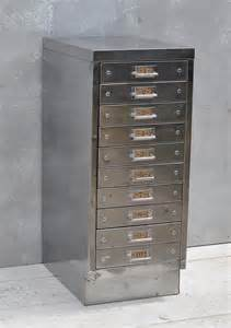 Vintage Industrial File Cabinet Vintage Industrial Steel Filing Cabinet 10 Drawer